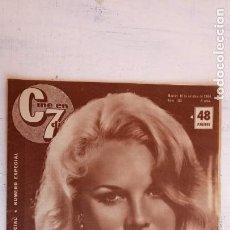Cine: CINE EN SIETE DÍAS Nº 183 - 1964 - CARROL BAKER, JEANJ PAUL BELMONDO, GRETA GARBO, ALAIN DELON. Lote 156281074