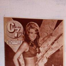 Cine: CINE EN SIETE DÍAS Nº 249 - 1966 - RAQUEL WECH, OMAR SHARIF, LIZ TAYLOR, SOFÍA LOREN, CARY GRANT,. Lote 156290746