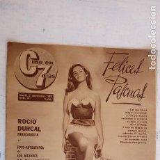Cine: CINE EN SIETE DÍAS Nº 141 - 1963 - ROCÍO DURCAL, BRIGITTE BARDOT, SINATRA,TONY PERKINS, DIRK BOGARDE. Lote 156294094