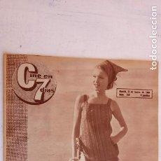 Cine: CINE EN SIETE DÍAS Nº 259 - 1966 - MARISOL, CONCHITA BAUTISTA, ANNE BAXTER, ELSA MARTINELLI, . Lote 156300534