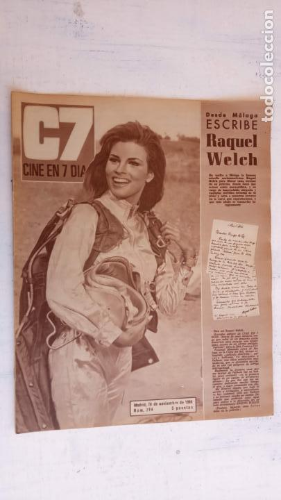 CINE EN SIETE DÍAS Nº 294 - 1966 - RAQUEL WECH, SARA MONTIEL, CARMEN SEVILLA, ARTURO FERNANDEZ (Cine - Revistas - Cine en 7 dias)