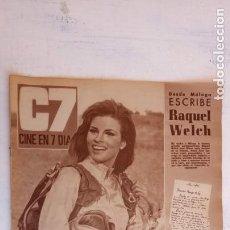 Cine: CINE EN SIETE DÍAS Nº 294 - 1966 - RAQUEL WECH, SARA MONTIEL, CARMEN SEVILLA, ARTURO FERNANDEZ. Lote 156304518