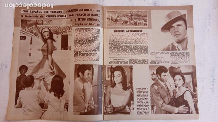 Cine: CINE EN SIETE DÍAS Nº 294 - 1966 - RAQUEL WECH, SARA MONTIEL, CARMEN SEVILLA, ARTURO FERNANDEZ - Foto 4 - 156304518