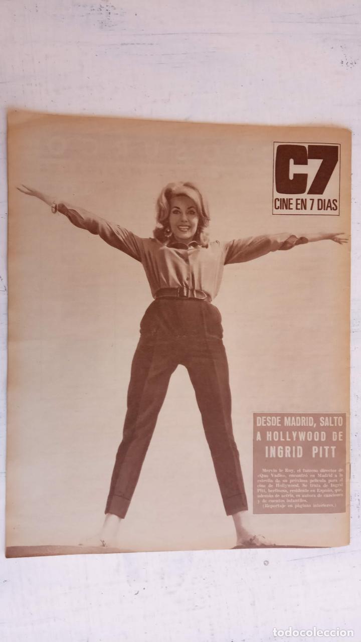 Cine: CINE EN SIETE DÍAS Nº 294 - 1966 - RAQUEL WECH, SARA MONTIEL, CARMEN SEVILLA, ARTURO FERNANDEZ - Foto 5 - 156304518