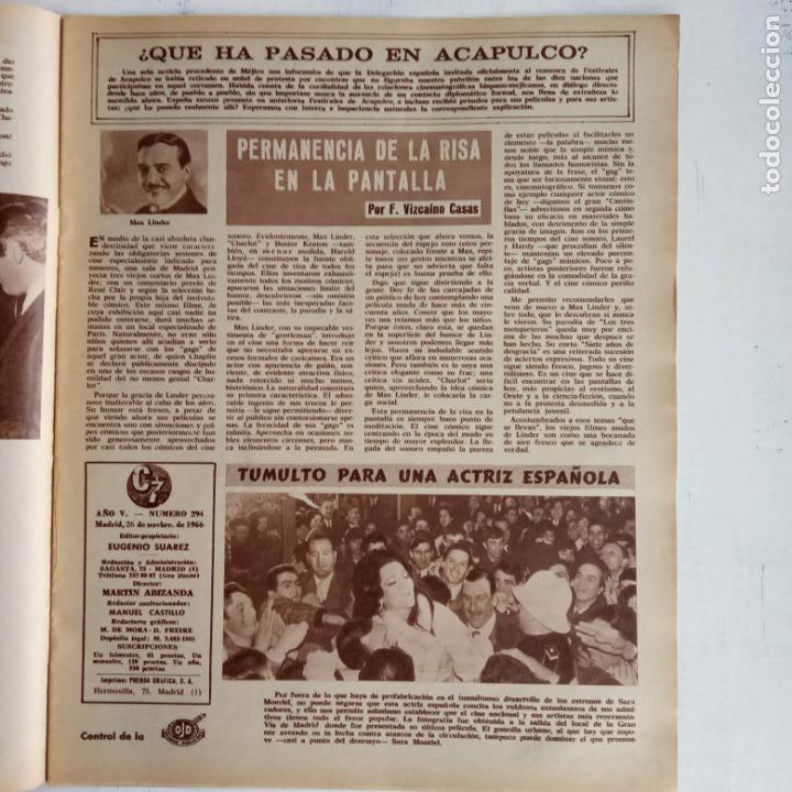 Cine: CINE EN SIETE DÍAS Nº 294 - 1966 - RAQUEL WECH, SARA MONTIEL, CARMEN SEVILLA, ARTURO FERNANDEZ - Foto 6 - 156304518