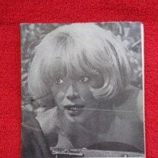 Cine: CARTELERA TURIA, VALENCIA, Nº 331 --- 1970 --- PORTADA DE LA ACTRIZ MIREILLE DARC. Lote 156852034