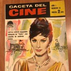 Cine: GACETA DEL CINE MAYO 1960.SOFIA SOPHIA LOREN JAMES MASÓN. Lote 156876569