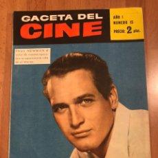 Cine: GACETA DEL CINE MAYO 1960.PAUL NEWMAN BRIGITTE BARDOT JOAB COLLINS DEBBIE REYNOLDS. Lote 156876994