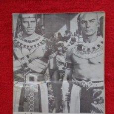 Cine: CARTELERA TURIA - Nº 449 --- 1972 --- PORTADA : LOS 10 MANDAMIENTOS YUL BRYNNER - CHARLTON HESTON. Lote 156904438