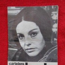 Cine: CARTELERA TURIA, VALENCIA, Nº 447 --- 1972 --- PORTADA CHARO LOPEZ. Lote 156904762