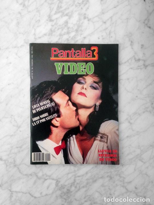 PANTALLA 3 VIDEO - Nº 26 - 1985 - LISTA OFICIAL DE PELICULAS (II) (Cine - Revistas - Otros)