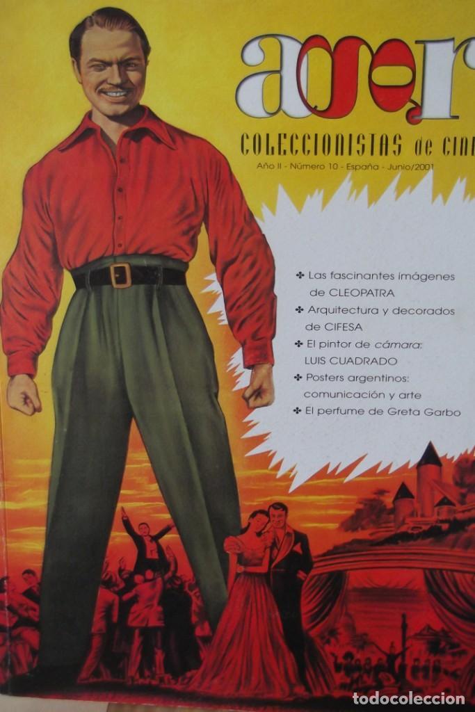 REVISTA-AGR-COLECCIONISTAS DE CINE-ESPECIALIZADA EN CARTELES DE CINE-Nº 10-JUNIO 2001- GRAN CALIDAD. (Cine - Revistas - Cine Mundial)