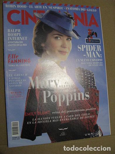 CINEMANIA Nº279 (EN PORTADA:EL REGRESO DE MARY POPPINS) ¡¡LEER DESCRIPCION!! (Cine - Revistas - Cinemanía)