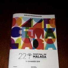 Cine: GUIA DE PROGRAMACION 22 FESTIVAL DE MALAGA CINE EN ESPAÑOL. Lote 158520390