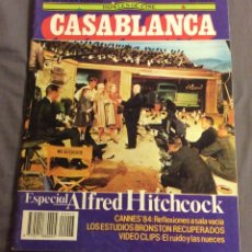 Cinema: PAPELES DE CINE CASABLANCA N- 43. ESPECIAL HITCHCOCK, CANNES 84. Lote 158539434