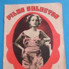 Cine: FILMS SELECTOS. AÑO II, Nº 23. 21 MARZO 1931.. Lote 158642118