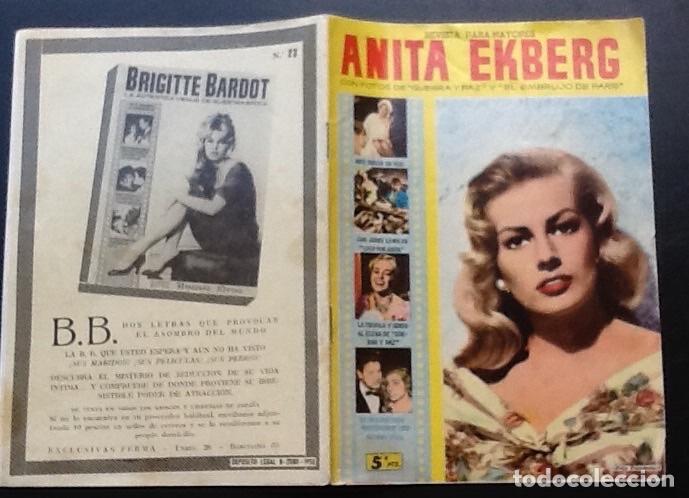REVISTA MONOGRÁFICA ANITA EKBERG, ED. FERMA CINECOLOR Nº 23 (Cine - Revistas - Cinecolor)