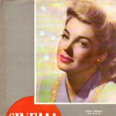 Cine: REVISTA CINEMA Nº 21 1947 - ESTHER WILLIAMS - JAMES MASON. Lote 159619290
