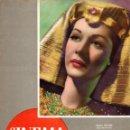 Cine: REVISTA CINEMA Nº 22 1947 - MARIA MONTEZ - ERROL FLYNN. Lote 159620070