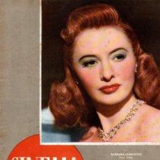 Cine: REVISTA CINEMA Nº 40 1947 -BARBARA STANWYCK - LEW AYRES. Lote 159622566