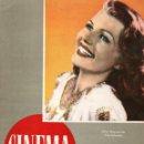 Cine: REVISTA CINEMA Nº 41 1948 - RITA HAYWORTH - PATRICK HOLT. Lote 159622742