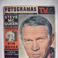 Cine: STEVE MCQUEEN. SEAN CONNERY. REVISTA FOTOGRAMAS. 1964.. Lote 191074470