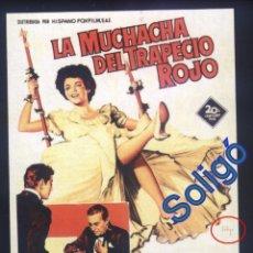 Cinéma: P-7902- LA MUCHACHA DEL TRAPECIO ROJO (SOLIGÓ) (THE GIRL IN THE RED VELVET SWING) RAY MILLAND. Lote 160002154
