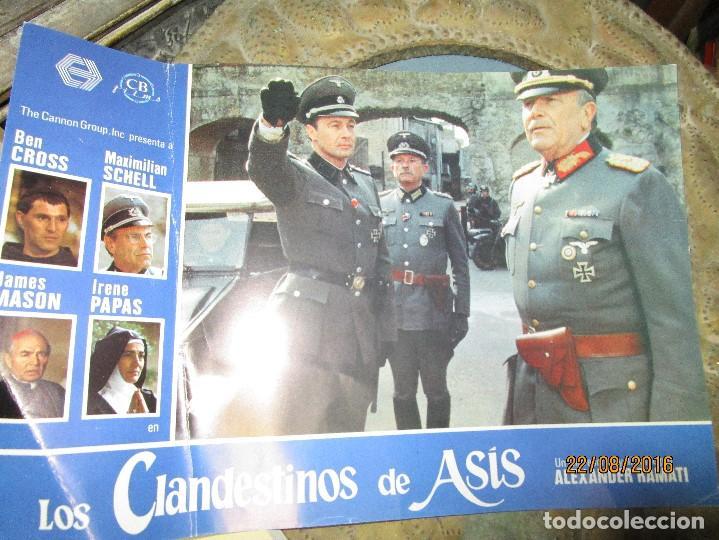 CARTEL DE CARTELERA DE CINE OFICIAL NAZI ALEMAN II GUERRA MUNDIAL LOS CLANDESTINOS...... (Cine - Revistas - Papeles de cine)