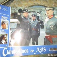 Cine: CARTEL DE CARTELERA DE CINE OFICIAL NAZI ALEMAN II GUERRA MUNDIAL LOS CLANDESTINOS....... Lote 160082986