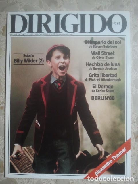 DIRIGIDO POR ... Nº 156 - REVISTA DE CINE - AÑOS 80 (Cine - Revistas - Dirigido por)