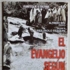 Cine: FOLLETO DE EL EVANGELIO SEGÚN SAN MATEO, PIER PAOLO PASOLINI. FILMOTECA DE EL CULTURAL 16. Lote 160287646