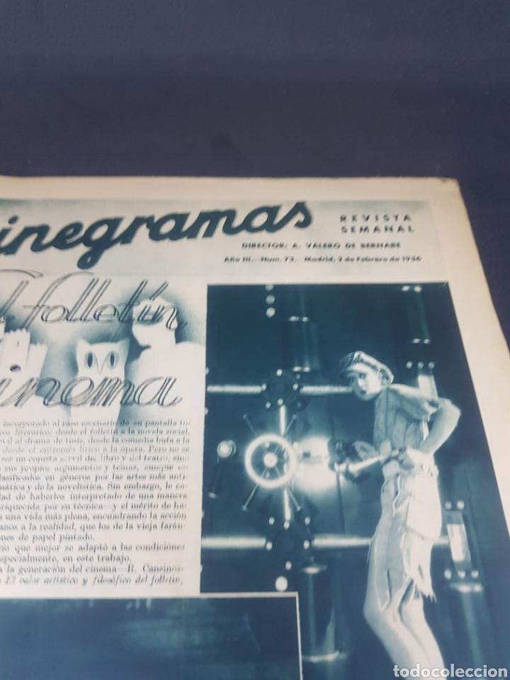 Cine: Revista de cine cinegramas número 73 año 1936 - Foto 2 - 160293978
