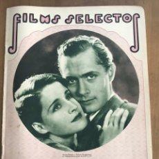 Cine: REVISTA FILMS SELECTOS. AÑO 1931. Lote 160347284