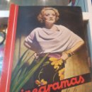 Cine: REVISTA CINEGRAMAS MARLENE DIETRICH GINGER ROGERS FRED ASTAIRE CARTELES CINE SOMBRERO DE COPA 1936. Lote 160356406