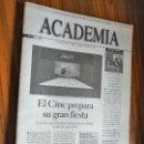 Cine: ACADEMIA DE CINE. 75. ENERO 2002. GRAPA. BUEN ESTADO. RARÍSIMA. REVISTA ACADEMIA DE CINE ESPAÑOL. Lote 160406818