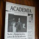 Cine: ACADEMIA DE CINE. 64. ENERO 2001. GRAPA. BUEN ESTADO. RARÍSIMA. REVISTA ACADEMIA DE CINE ESPAÑOL. Lote 160410686