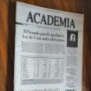 Cine: ACADEMIA DE CINE 69 JUNIO 2001. GRAPA. BUEN ESTADO. RARÍSIMA. REVISTA ACADEMIA DE CINE ESPAÑOL. Lote 160411362