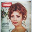 Cine: SOFÍA LOREN. REVISTA HOLA. AÑO 1962.. Lote 160428962