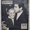 Cine: MARISOL Y PAUL ANKA. ELIZABETH TAYLOR. REVISTA SÁBADO GRÁFICO. AÑO 1962.. Lote 160429950