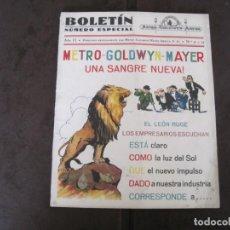 Cine: RARA REVISTA BOLETIN Nº ESPECIAL BOLETIN METRO GOLDWYN MAYER. Lote 160539358