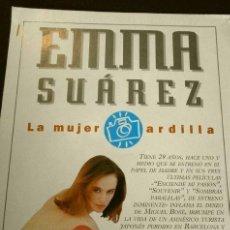 Cinema: EMMA SUAREZ LA MUJER ARDILLA (REPORTAJE REVISTA FOTOGRAMAS 1994) (4 HOJAS SUELTAS). Lote 160750350