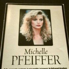 Cinema: MICHELLE PFEIFFER (ALBUM Y POSTER EL DOMINICAL AÑOS 90) (ALBUM 4 HOJAS) FICHA. Lote 160754678