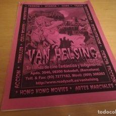 Cine: VAN HELSING FANZINE CATALOGO DE PELICULAS DE TERROR EN VHS . Lote 162095970