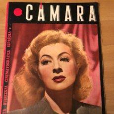 Cinéma: REVISTA CÁMARA OCTUBRE 1944 GREER GARSON.SARA MONTIEL JOAN CRAWFORD MARLENE DIETRICH AMPARO RIVELLES. Lote 162166397