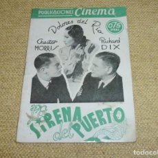 Cine: LA SIRENA DEL PUERTO - PUBLICACIONES CINEMA Nº 70.. Lote 162325642