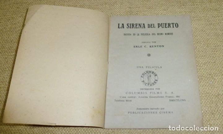 Cine: LA SIRENA DEL PUERTO - PUBLICACIONES CINEMA Nº 70. - Foto 2 - 162325642