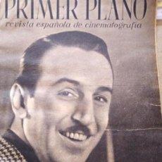 Cine: PRIMER PLANO AÑO I NUM 2 1940 ¿HA NACIDO EN ESPAÑA WALT DISNEY? IMPERIO ARGENTINA. Lote 162509786