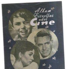 Cine: ALBUM ESTRELLAS DEL CINE 1958. Lote 162582086