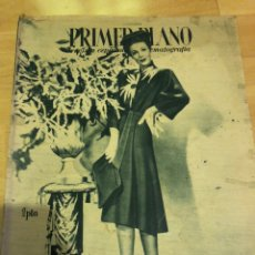 Cine: REVISTA PRIMER PLANO ABRIL 1945.LORETTA YOUNG.LUIS LUCIA IQUINO AMPARO RIVELLES. Lote 162931374