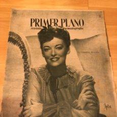 Cine: REVISTA PRIMER PLANO OCTUBRE 1945.KATHERINE BOOTH.JUAN DE ORDUÑA.MARIA FELIX.IMPERIO ARGENTINA. Lote 162941482